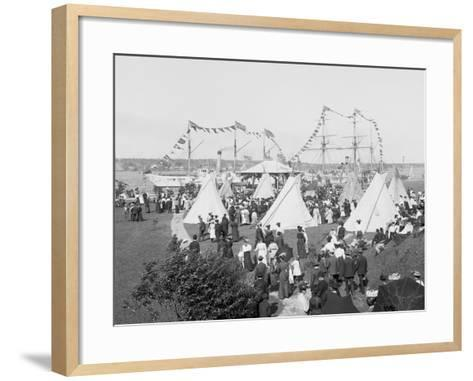 Indian Village, Saint Marys Sic Canal Celebration, Sault Ste. Marie, Mich.--Framed Art Print