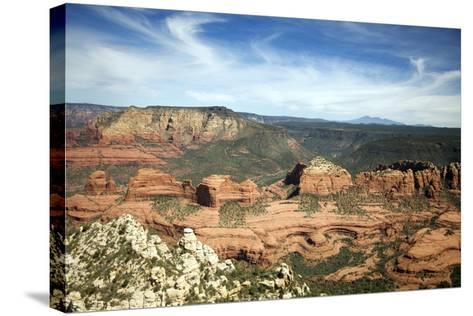 Aerial View from Helicopter, Sedona, Arizona-Carol Highsmith-Stretched Canvas Print