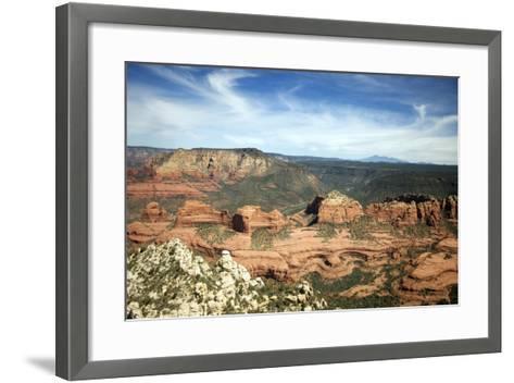 Aerial View from Helicopter, Sedona, Arizona-Carol Highsmith-Framed Art Print
