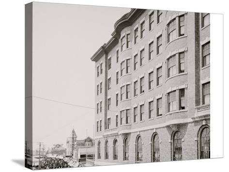 Youngs Hotel and Boardwalk, Atlantic City, N.J.--Stretched Canvas Print