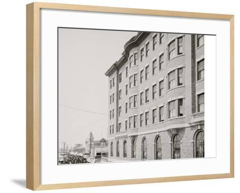 Youngs Hotel and Boardwalk, Atlantic City, N.J.--Framed Art Print