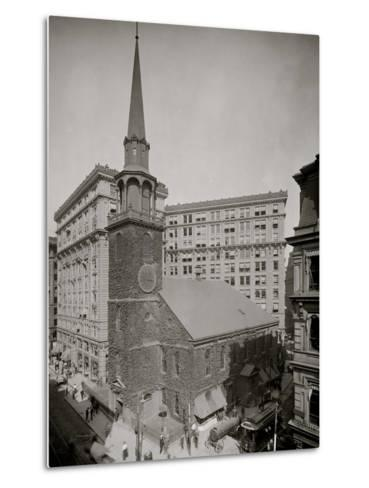 Old South Meeting House and Old South Building, Boston, Mass.--Metal Print
