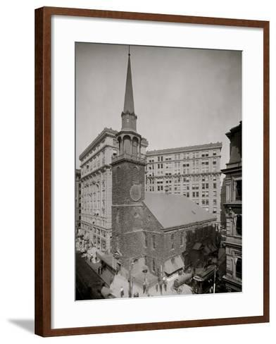 Old South Meeting House and Old South Building, Boston, Mass.--Framed Art Print