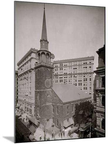 Old South Meeting House and Old South Building, Boston, Mass.--Mounted Photo
