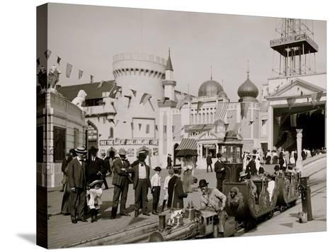 The Miniature Railway, Coney Island, N.Y.--Stretched Canvas Print