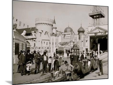 The Miniature Railway, Coney Island, N.Y.--Mounted Photo