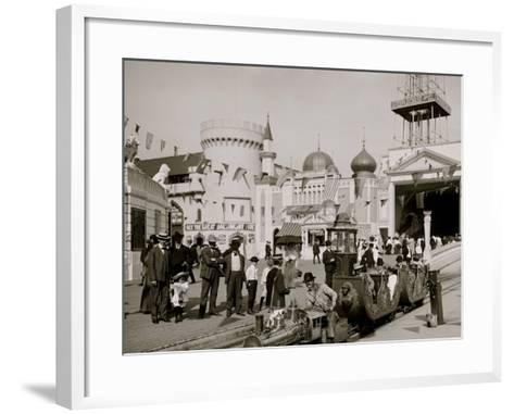 The Miniature Railway, Coney Island, N.Y.--Framed Art Print