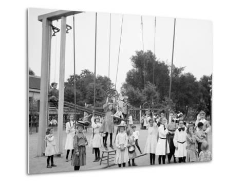 Girls Playground, Harriet Island, St. Paul, Minn.--Metal Print