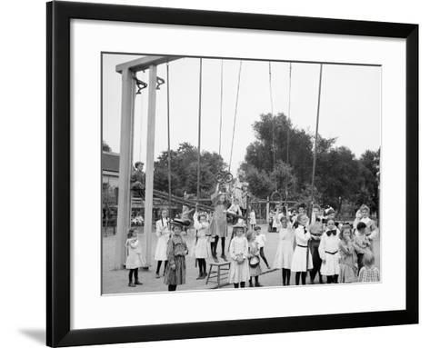 Girls Playground, Harriet Island, St. Paul, Minn.--Framed Art Print