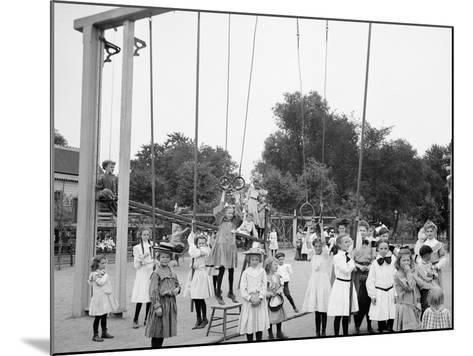 Girls Playground, Harriet Island, St. Paul, Minn.--Mounted Photo
