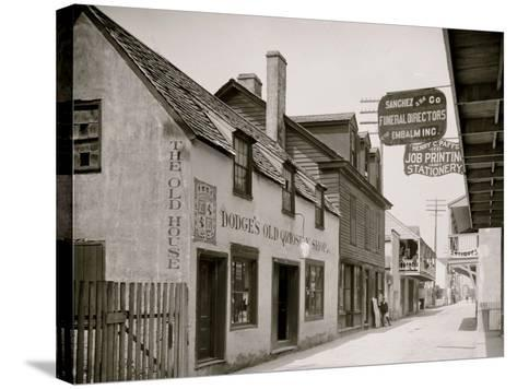 Dodges Old Curiosity Shop, St. George Street, St. Augustine, Fla.--Stretched Canvas Print