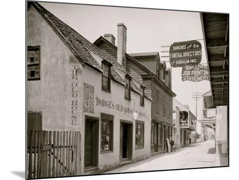 Dodges Old Curiosity Shop, St. George Street, St. Augustine, Fla.--Mounted Photo