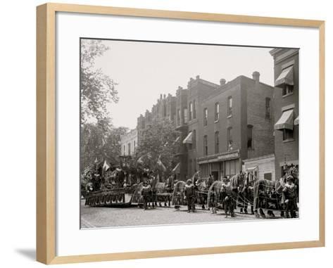 Bi-Centenary Celebration, Floral Clock, Hiram Walker Co. Float, Detroit, Mich.--Framed Art Print