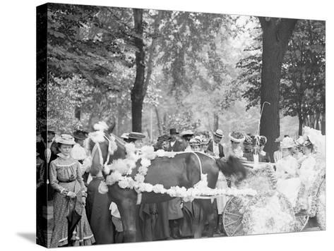Bi-Centenary Celebration, Floral Parade, Carriage of Mrs. F.F. Ingram, Detroit, Mich.--Stretched Canvas Print
