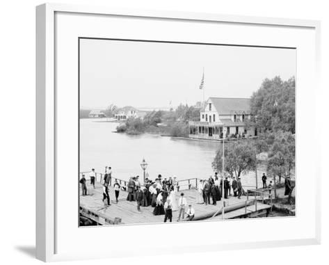Resort, St. Clair Flats, Mich.--Framed Art Print