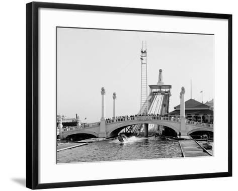Shooting the Chutes, Dreamland, Coney Island, N.Y.--Framed Art Print