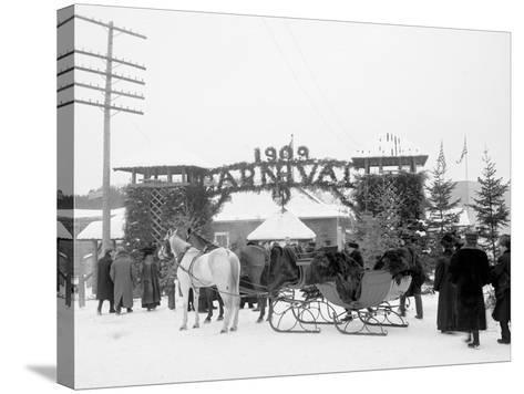 Midwinter Carnival, Entrance to Pontiac Rink, Upper Saranac Lake, N.Y.--Stretched Canvas Print