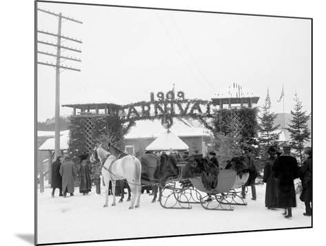 Midwinter Carnival, Entrance to Pontiac Rink, Upper Saranac Lake, N.Y.--Mounted Photo