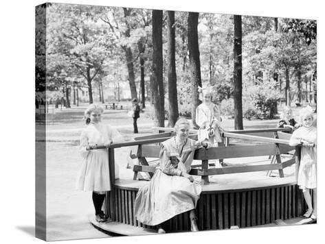 Merry-Go-Round in Clark Park, Detroit, Mich.--Stretched Canvas Print