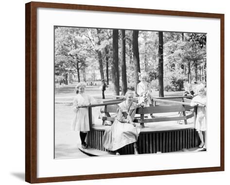 Merry-Go-Round in Clark Park, Detroit, Mich.--Framed Art Print