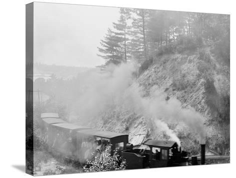 The Hemlock Limited, Bound for the Woods, Harbor Springs, Mich.--Stretched Canvas Print