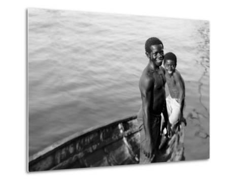 Negro Diving Boys, Nassau, W.I.--Metal Print
