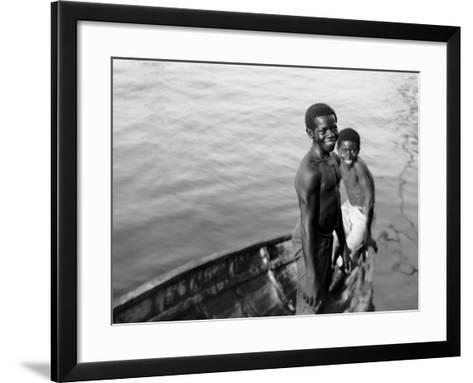 Negro Diving Boys, Nassau, W.I.--Framed Art Print