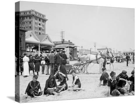 On the Beach, Atlantic City, N.J.--Stretched Canvas Print