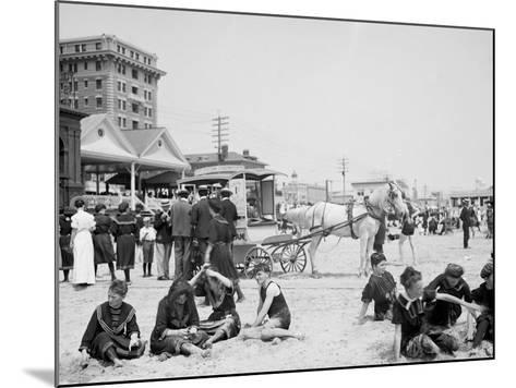 On the Beach, Atlantic City, N.J.--Mounted Photo