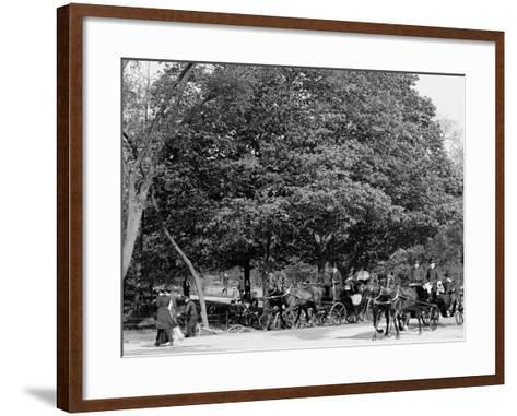 The Driveway, Central Park, New York City--Framed Art Print