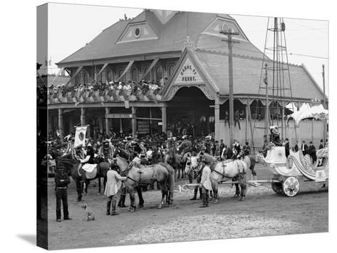 Mardi Gras Day, Royal Chariot with Rex, New Orleans, La.--Stretched Canvas Print