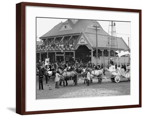 Mardi Gras Day, Royal Chariot with Rex, New Orleans, La.--Framed Art Print
