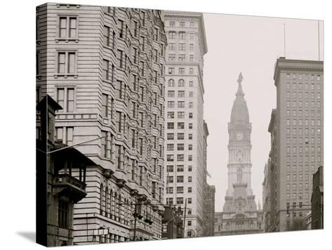 Broad Street, North from Locust Street, Philadelphia, Pa.--Stretched Canvas Print