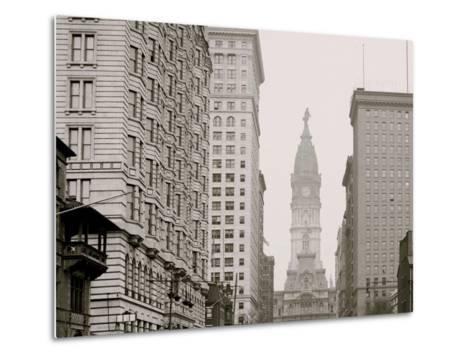 Broad Street, North from Locust Street, Philadelphia, Pa.--Metal Print