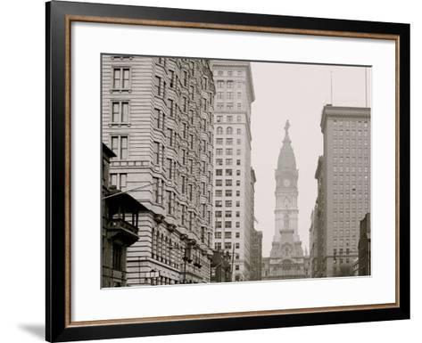 Broad Street, North from Locust Street, Philadelphia, Pa.--Framed Art Print