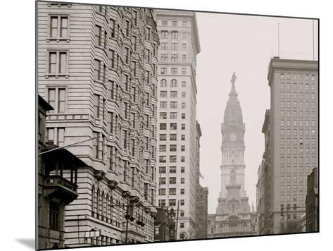 Broad Street, North from Locust Street, Philadelphia, Pa.--Mounted Photo