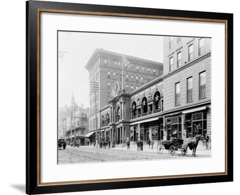 St. Charles Hotel, New Orleans--Framed Art Print