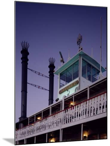 Mississippi River Steamboat Smokestacks and Bridge-Carol Highsmith-Mounted Photo