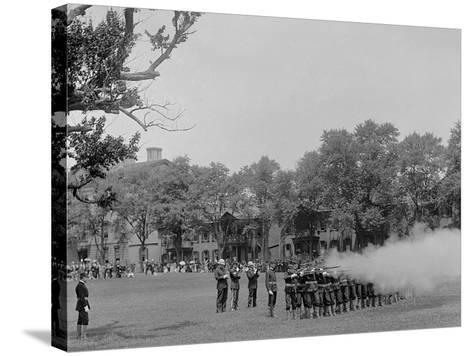 Volley Firing, U.S. Naval Academy--Stretched Canvas Print