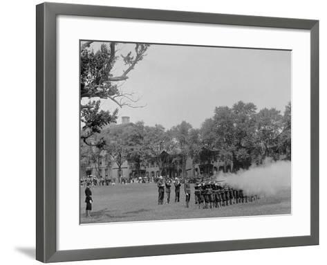 Volley Firing, U.S. Naval Academy--Framed Art Print