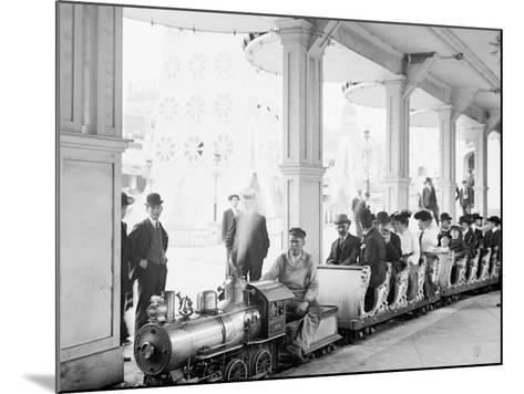 Miniature Railway, Coney Island, New York--Mounted Photo