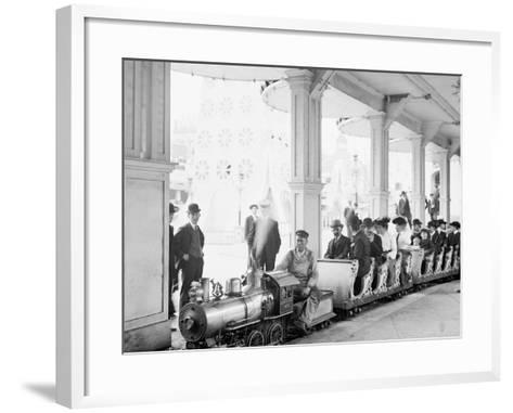 Miniature Railway, Coney Island, New York--Framed Art Print