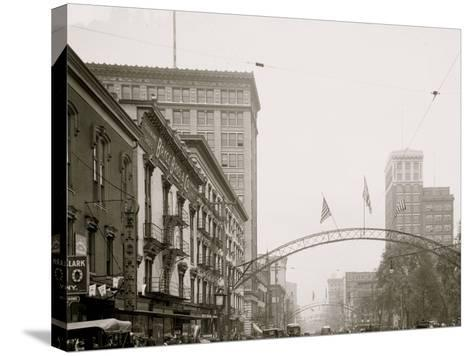 Columbus, Ohio, High St. North from State--Stretched Canvas Print