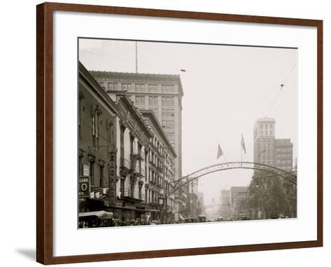 Columbus, Ohio, High St. North from State--Framed Art Print