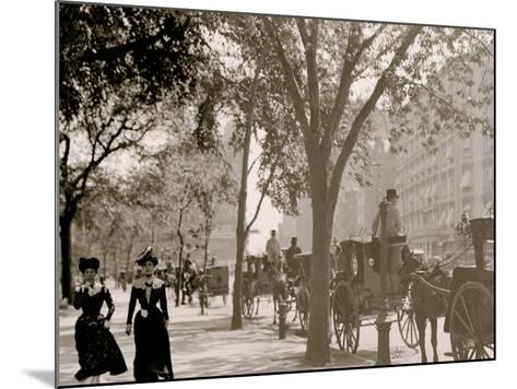 Cab Stand at Madison Square, New York--Mounted Photo