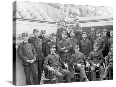 U.S.S. Kearsarge Officers--Stretched Canvas Print