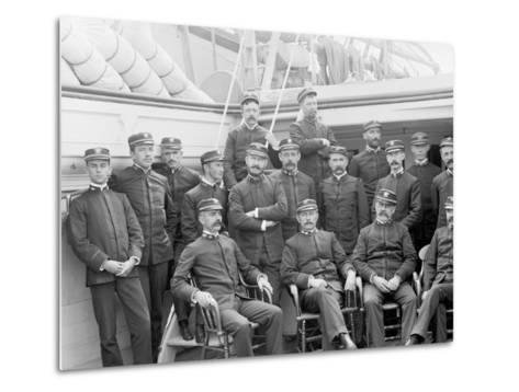 U.S.S. Kearsarge Officers--Metal Print