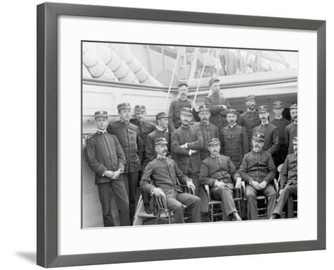 U.S.S. Kearsarge Officers--Framed Art Print