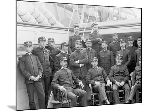 U.S.S. Kearsarge Officers--Mounted Photo