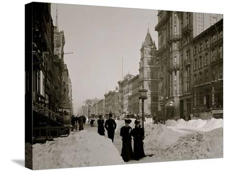 Fifth Avenue after a Snow Storm, New York--Stretched Canvas Print